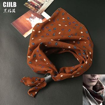 2017 New Fashion Retro Small Square Scarves Print Women Men Cotton Neck Scarf Squares Wrap 60*60cm Female Male Printing Bandana