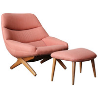 Lounge Chair And Ottoman By Illum Wikkelso