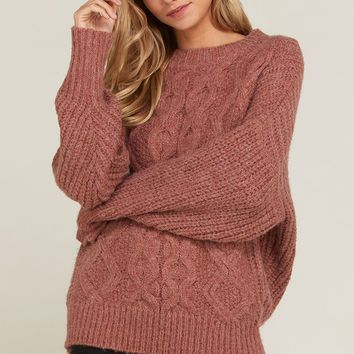 Always Grateful Sweater - Dark Rose