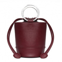 Burgundy Little Cylinder Shoulder Bag