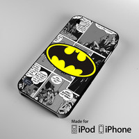 Batman Logo Comic Cover iPhone 4 4S 5 5S 5C 6, iPod Touch 4 5 Cases