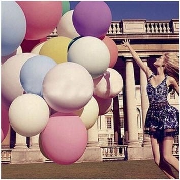 "Cute Life 36"" Colorful Giant Big Balloon Latex Birthday Wedding Party Helium Decoration [7981648199]"