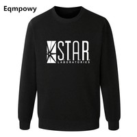Eqmpowy Flash Barry Allen Star Lab Labs Black Color Mens Sweatshirt Men Novelty hoodies Pullover 2016 Male Clothes Arrow Friend