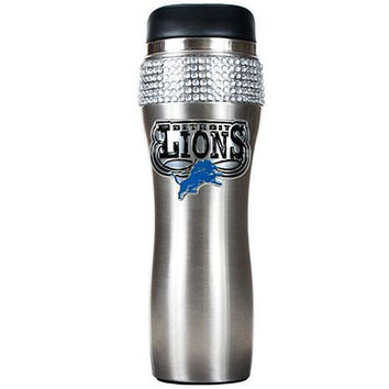 NFL Detroit Lions Stainless Steel Bling Travel Tumbler