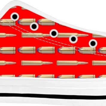 Bullets Shoes White/Red Low Tops