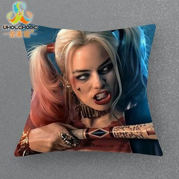 43*43cm The Suicide Squad Harley Quinn Decorative Linen Cushion Covers Outdoor Pillow Covers Fashion Home Decor