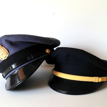 Norwich University Military Dress Hats with Badge