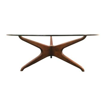 Pre-owned Vladimir Kagan Biomorphic Walnut Coffee Table