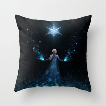 Frozen Throw Pillow by Westling