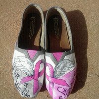 Breast Cancer Awareness hand painted TOMS