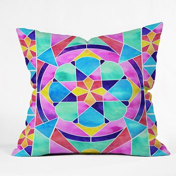 Jacqueline Maldonado Watercolor Geometric 1 Throw Pillow