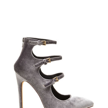 Three Thinker Strappy Pointed Heels