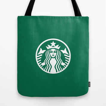 Starbucks Tote Bag by Nico Zahlut