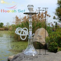Portability  New Pattern Hookahs Shisha Narguile Smoking Water Pipe for Gifts Complete Set With Led Light Chicha