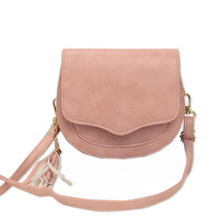 Preppy Style Circular Shoulder Bags Korean Tassel Woman Messenger Bag Girl's Small Saddle Cross Body Bag