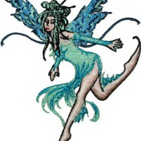 Amy Brown Iron-On Patch Water Element Fairy