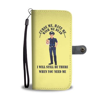 Custom Designed Police Wallet Phone Case