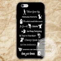 Disney Lessons Learned iPhone 4/4S, 5/5S, 5C Series, Samsung Galaxy S3, Samsung Galaxy S4, Samsung Galaxy S5 - Hard Plastic, Rubber Case