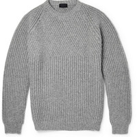 Lanvin - Ribbed Wool and Cashmere-Blend Sweater | MR PORTER