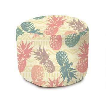 Pineapple on Tribal Pouffe