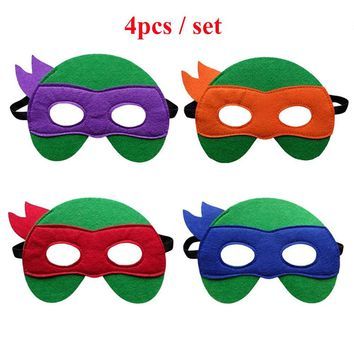 Cool Teenage Mutant Ninja Turtles Mask Captain America Mask Kid Birthday Gift Halloween Cosplay Party Decoration Props Supplies MasksAT_93_12