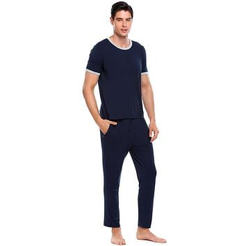 Men's Short-Sleeve Slim Fit Pajama Set