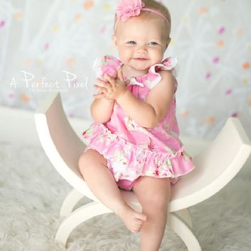 Pink Floral Baby Bubble