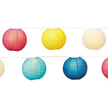 "Room Essentials 10Lt 8"" Paper Lanterns, Multi"