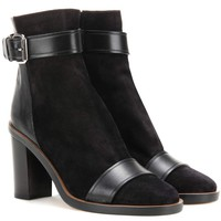 Gussie suede and leather ankle boots