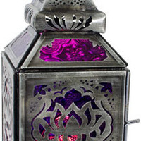 Lotus - Purple and Pink - Candle Holder