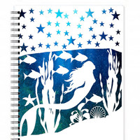 Mermaid Notebook - To Do Notebook - Fantasy Journal - Nautical Journal - Summer Journal - Travel Journal - Beach Journal - Mermaid Journal