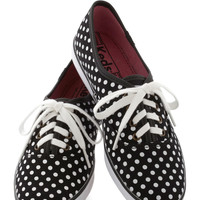 Jump for Joy Sneaker in Dots | Mod Retro Vintage Flats | ModCloth.com