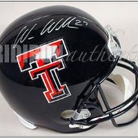 Wes Welker Signed Helmet - Replica | Authentic Autographed