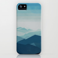 Blue Mountain iPhone & iPod Case by Laetitia Lagleyse