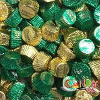Green and Gold Wrapped Reese Mini Peanut Butter Cups: 3.5 LBS