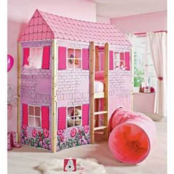 Dollhouse Mid Loft Bed w/ Curtains and Tunnel!!!