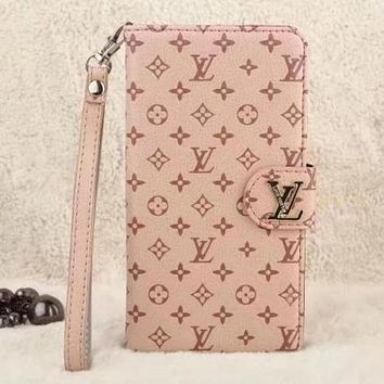Perfect  Louis Vuitton LV Fashion Leather iPhone Phone Cover Case For iphone 6 6s 6plus 6s-plus 7 7plus 8 8plus X