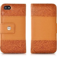 Retro Series-protective Wallet Pu Leather Case for Apple Iphone 5 / 5s (Brown)