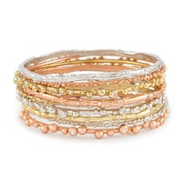 Sooter Bangle Bracelet Set In Mixed Metals