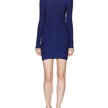 Maje Women's U-Back Marled Fitted Dress - Blue -
