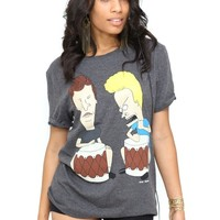 Beavis & Butthead Beating Drums boyfriend tee