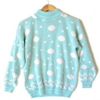 Shop Now! Ugly Sweaters: Vintage 80s Acrylic Sparkle Pastel Polka Dot Tacky Ugly Sweater Women's Size Medium/Large (M/L) $22 - The Ugly Sweater Shop