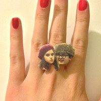 Moonrise Kingdom // Sam & Suzy // Wes Anderson Adjustable Ring