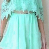 Lace Trim Strapless Dress