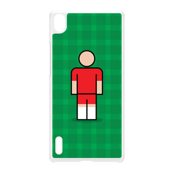 Welling White Hard Plastic Case for Huawei P7 by Blunt Football