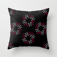 Bursts Throw Pillow by Jensen Merrell Designs