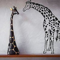 Wall Sticker Vinyl Decal Animal Africa Giraffe High for Room Decor Unique Gift (n254)