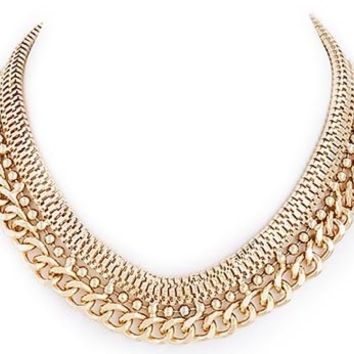Multi Chain Collar Necklace
