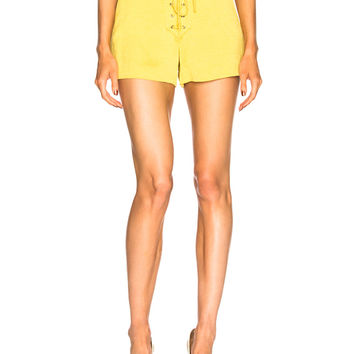 Veronica Beard Lulu Shorts in Yellow | FWRD
