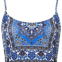Folk Tile Bralet - Blue